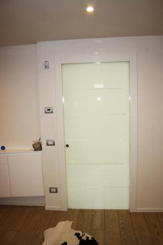 Porte in legno lamellare e vetro Spolador